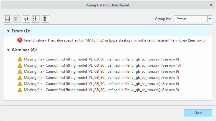 Example of the Spec-Driven Piping Validation Tool in Creo