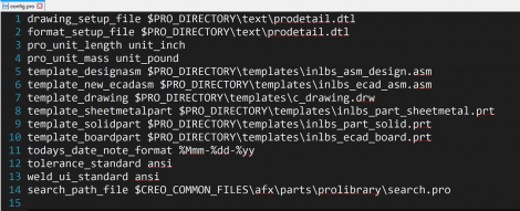 An example config.pro file