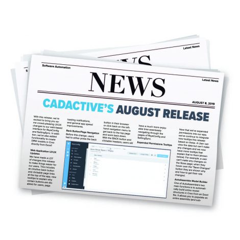 CadActive's August Release
