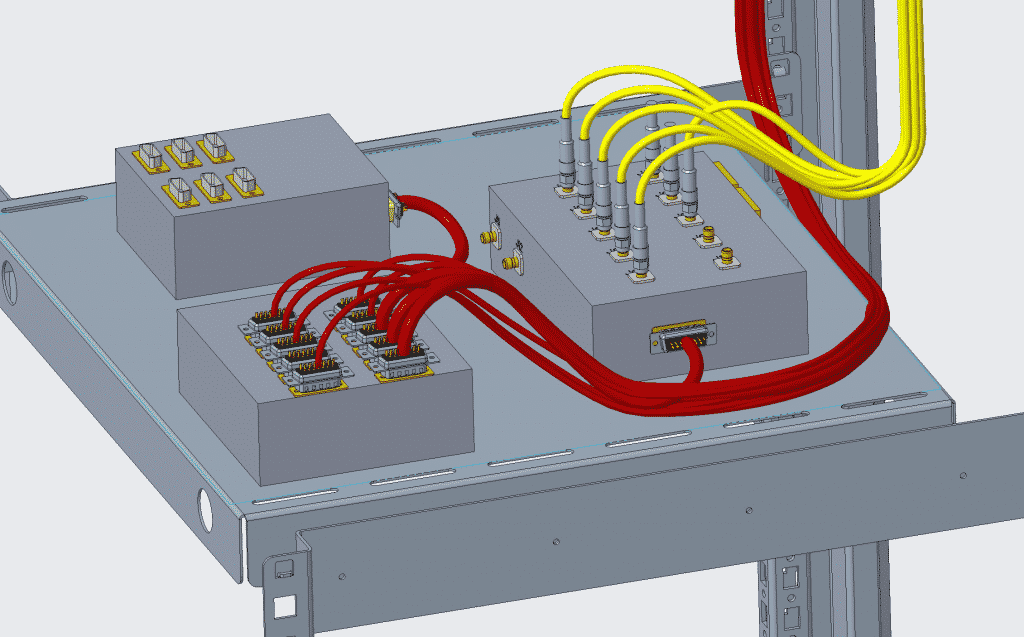 CAD model of cables and wires